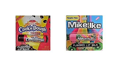 Mike & IKE Paradise Punch and Cookie Dough Bites Lip Balm! Includes One of Each! Keeps Lips Smooth! Smells Like Your Favorite Candy!