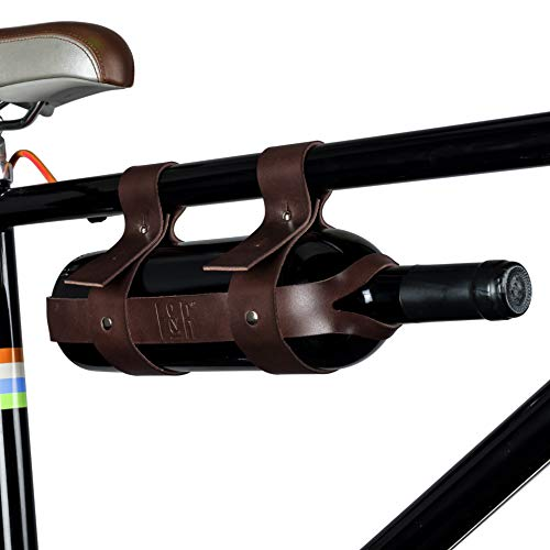 Foster & Rye 5608 Faux Leather Bicycle Wine Carrier, Multicolor