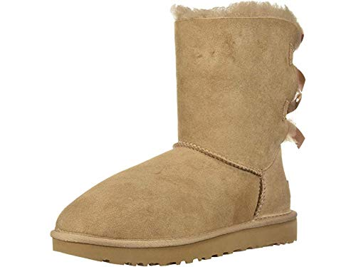 UGG Women's W Bailey Bow II Fashion Boot, Fawn, 9 M US
