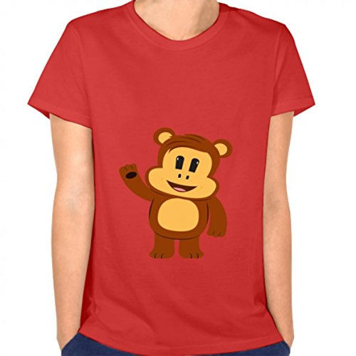 Ruiane Women Mode Crew-Neck Short Sleeve T-Shirt Women t Shirt 2 Cartoon Monkey jorz from Ruiane