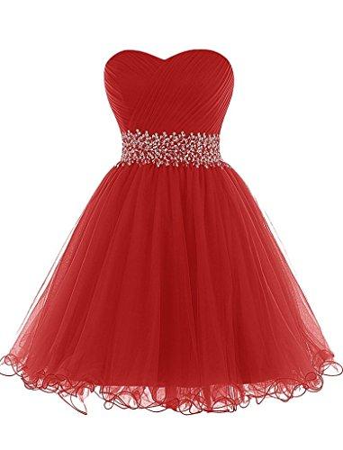 Kleid rot abiball