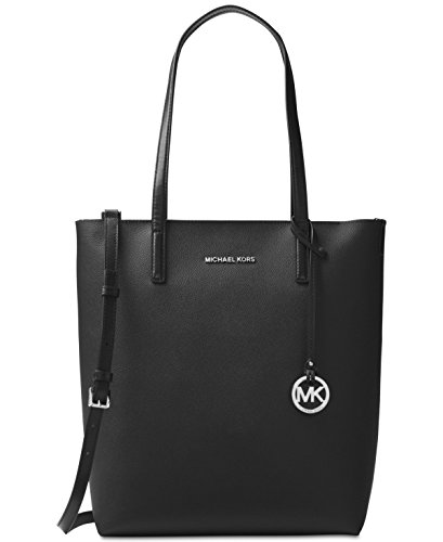 MICHAEL Michael Kors Hayley Large North South Top-Zip Tote,Black Leather,One Size