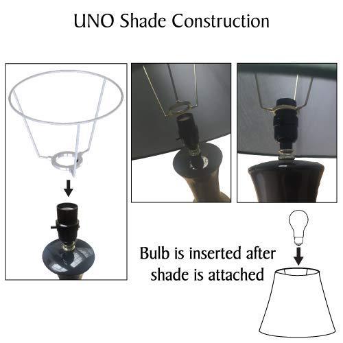 Aspen Creative 58902 Transitional Hardback Empire Shape UNO Construction Lamp Shade in Off White, 9 Wide (5 x 9 x 7)