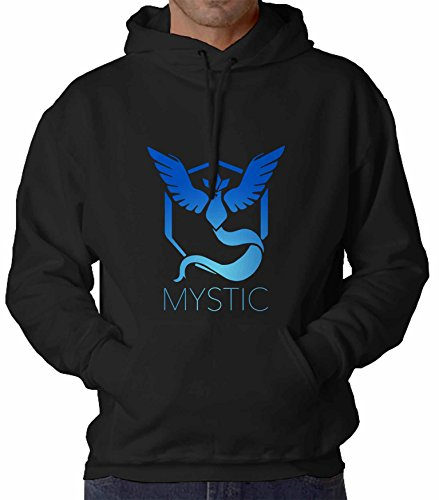 Pokemon Go - Team Mystic Black Hoodie For Unisex Adult Size M