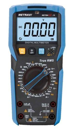 Metravi Metrasafe-10 Digital Multimeter with T-RMS, NCV & double-injection housing Price & Reviews
