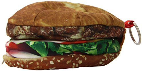 DCI Yummy Pocket Zip Coin Purse, Hamburger