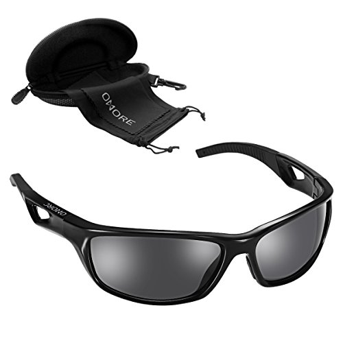 Moonvvin UV400 Protection Women Sport Sunglasses Men Polarized Sports Sunglasses Black for Outdoors Sports Cycling Driving Golf by Moonvvin