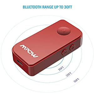 Mpow Bluetooth Receiver, Portable Bluetooth 4.1 Car Adapter & Bluetooth Car Kits for Music Streaming Sound System, Hands-free Audio Adapter & Wireless Car Adapter for Home/Car Audio Stereo System