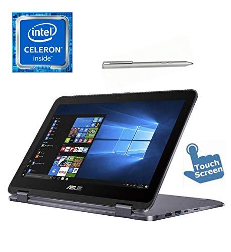 Asus Premium VivoBook Flip 11.6-inch Touchscreen 2-in-1 Convertible Laptop/Tablet, Intel Celeron N3350, 4GB RAM, Fingerprint Reader, Stylus Pen, Windows 10, Choose Your HDD SSD Flash Drive