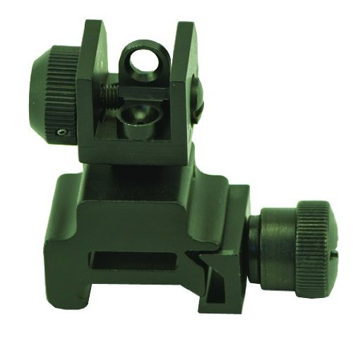 UPC 768721505715, Swamp Fox Rear Rifle Sight for AR15 M16 and M4 Rifles, Black Matte