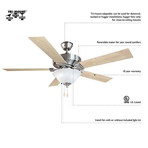 Design House 152991 Atrium 1 Light Ceiling Fan 30'', White by Design House (Image #4)