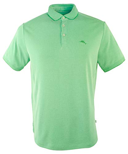 (Tommy Bahama Men's Coastal Crest IslandZone Polo Shirt-FG-XL Fern Green)