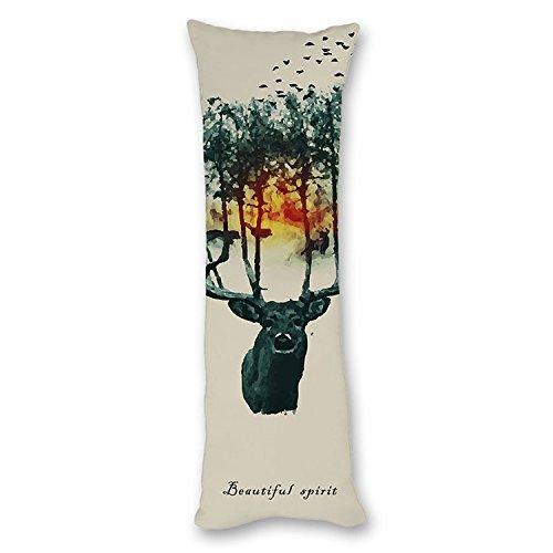 "Price comparison product image Poieloi Vintage Giraffe Cushion Decro Body Pillowcase for Kids 20""x54"""