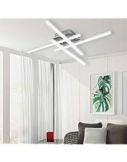 Lampa sufitowa LED ALLOMN, lampa żyrandolowa, Nowoczesna zakrzywiona lampa sufitowa z oświetleniem 3-punktowym, do salonu, sypialni, jadalni, 18 W