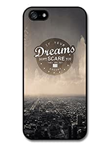 AMAF ? Accessories Dreams Big Enough Life & Love Inspirational Quote case for iphone 5c