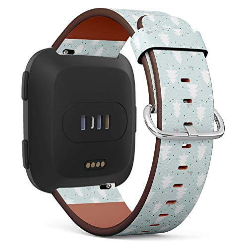 Compatible with Fitbit Versa Leather Watch Wrist Band Strap Bracelet with Quick-Release Pins (Rabbits Wild Life Forest Animals) ()