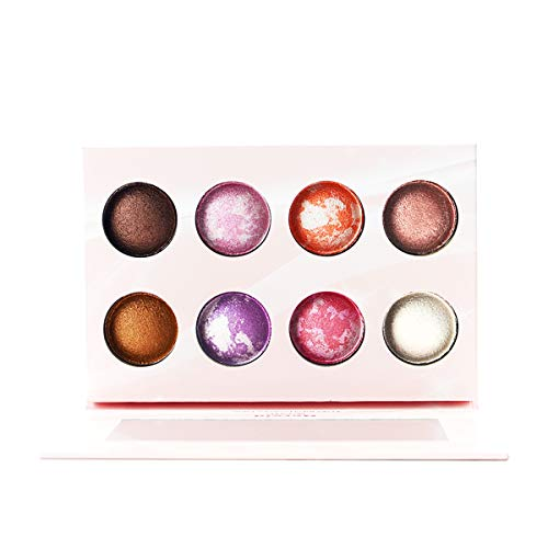Everfavor Makeup Eyeshadow Palette, Professional 21 Color Baked Eye Shadow Palette with Galaxy Colors (8 Colors, Galaxy)