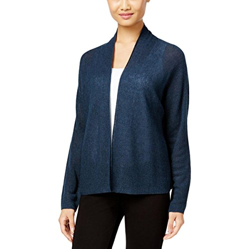 Eileen Fisher Womens Wool Alpaca Cardigan Top Navy S by Eileen Fisher