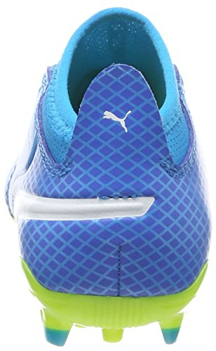 Puma One 17.3 AG Jr, Zapatillas de Fútbol Unisex Niños Azul (Atomic Blue- White-safety Yellow)