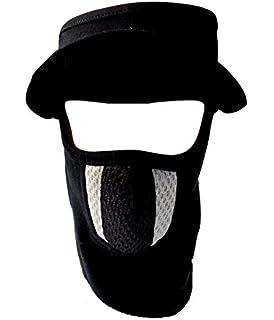 b8d35bdf1dd H-Store Cap White with Red Black Filter Bike Riders Anti Pollution Dust Sun  Protecion Full