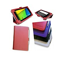 Google Nexus 7 2 (2013) Multi-Angle 'Pen' Case with Auto Sleep Wake Sensor and 2 in 1 Stylus / Biro Pen by LuvTab® (Red)