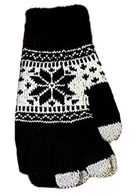 Womens Winter Knit Thick Warm Girls Touch Screen Gloves by Chalier