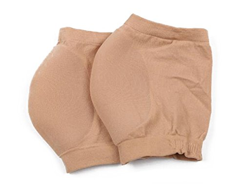 Women Men Heel Protector Moisturizing Gel Feet Sleeve Heel Socks Cup Cushion to Relieve Pain and Pressure Soften Repair Cracked Skin (M, Nude) by Flyott (Image #1)