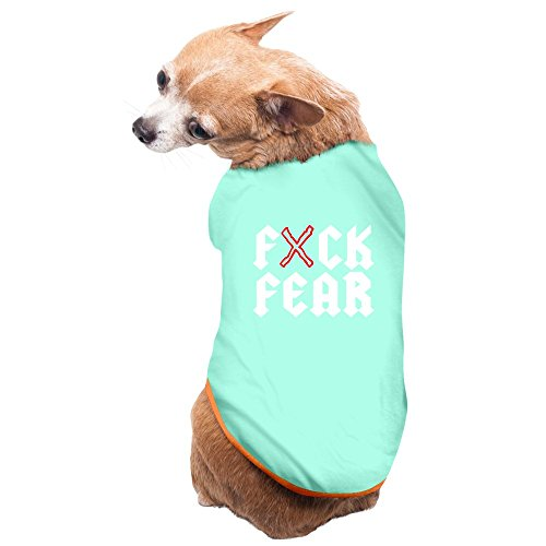 Jade Awesome Stop And Fuck Fear Poster Pet Doggy Tank Top SkyBlue Size (Facebook Dog Tank)