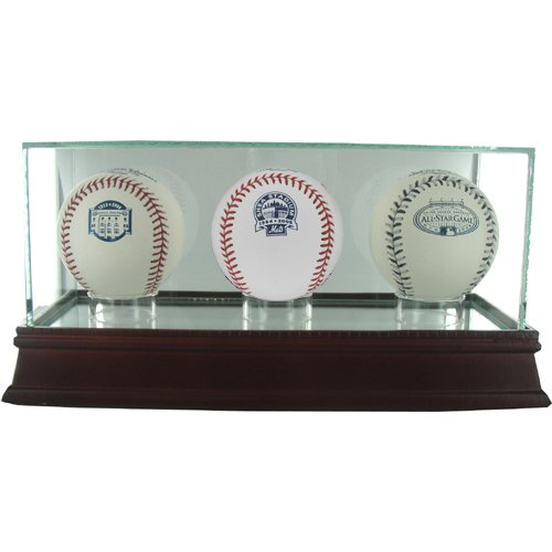 (Steiner Sports Glass Triple Baseball Case)