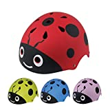 LIDAUTO Kids Cycling Head Helmet Adjustable Ladybug Protect Helmets Cycle Skate Scooter,red