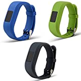 ECSEM Replacement Bands and Straps for Garmin vivofit JR & vivofit 3, [fits 6~8.5 inch wrists], Dark Blue/Lime/Grey