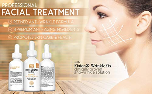 41PJZLAWO8L - M3 Naturals Professional Facial Vitamin C Infused with Collagen Stem Cell and Patented Fision Wrinkle Fix Face Eye Oil Topical Facial Serum Natural Skin Care Acne Anti Aging Dark Spot Remover Cream