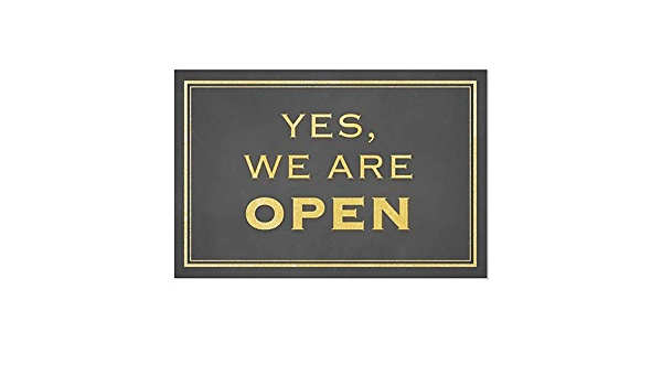 CGSignLab 2452778/_absw/_18x12/_None Now Open Premium Acrylic Sign with Brushed Aluminum Edge-Grip Stand-Offs 18 x 12 Classic Gold 1//8 in