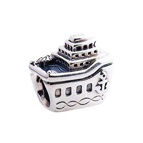 Romántico Amor All Aboard Charm Nautical Cruise Ship Sterling Silver Bead fit Pandora Bracelets (Pandora Nautical Charms)