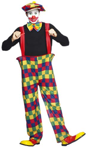 Last Laugh The Clown Costume (Smiffys Hooped Clown Costume)