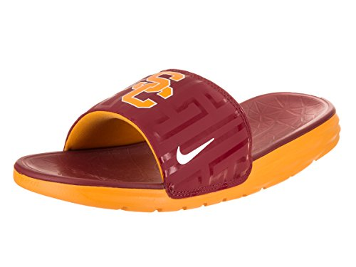 NIKE Men's Benassi Solarsoft College (USC) Team Crimson/White-USC Sandal 13 Men US ()
