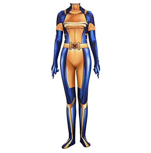 - 41PJaFlHNHL - Rieknic Superhero Womens Spandex Zentai Bodysuit Halloween Cosplay Costumes Adult/Kids 3D Style