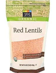 365 Everyday Value, Organic Red Lentils, 16 oz