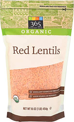 365 Everyday Value, Organic Red Lentils, 16 oz - Meals Frozen Gourmet