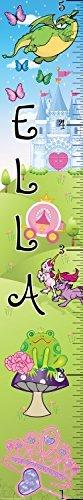 Mona Melisa Designs Customized Princess Ella Growth Chart Decorative Wall Sticker [並行輸入品]   B077Z4J19B