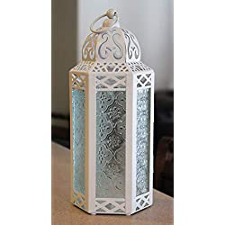 White Wedding Moroccan Style Candle Lantern - Grea