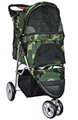 The VIVO Pet Stroller provides first class travel for your lovable pet! Whether you are taking a quick stroll around the block or a jog through the park, this durable 3-wheeled stroller makes for a safe and smooth ride. Features include three...