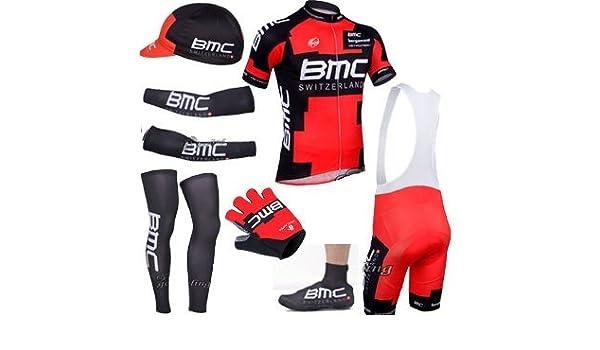 BMC pro paquete completo jersey, pantalones cortos, guantes ...