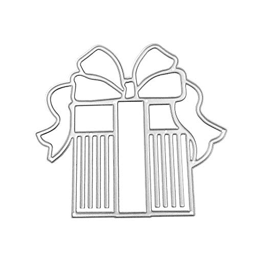 WOCACHI Christmas Cutting Dies Gift Card Making Stencils Scrapbooking Embossing Mould Handicrafts Xmas Decor Paper Cards Template H ()