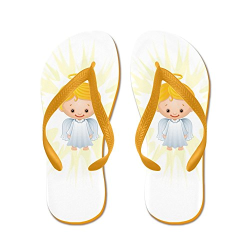 Echt Teague Heren Kerst Schatjes Stralende Engel Van De Heer Rubberen Slippers Sandalen Oranje