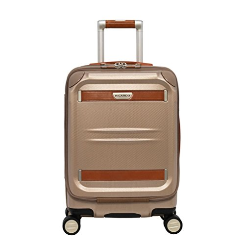 Ricardo Beverly Hills Ocean Drive Mobile Office Spinner Carry-On Luggage, Sandstone, 19-Inch ()