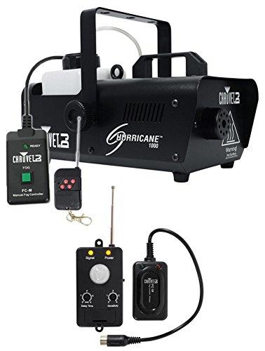 Chauvet DJ H1000 Hurricane 1000 Fog Machine+Remote+Transmitter Motion Sensor (Dj Fog Machine)