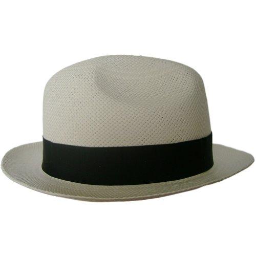 Gamboa Genuine Unisex Panama Hat Short Brim Gardening Straw Hat Borsalino