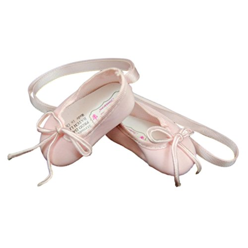 The Queen's Treasures Pink Satin Ballet Slippers 18 Inch Ballerina Doll Shoes, Clothing Accessories Fits American Girl Doll Clothes. Complete with Authentic Shoe Box