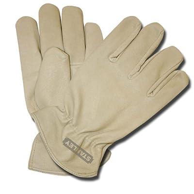 Stanley S89162 Fleece-Lined Grain Pigskin Driver Glove, Medium